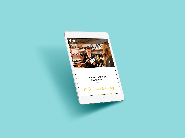 Le baricou Site web Tablette